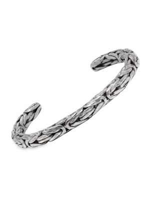 Braid Sterling Silver Braided Cuff Bracelet