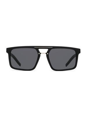 BlackTie 54MM Rectangular Sunglasses