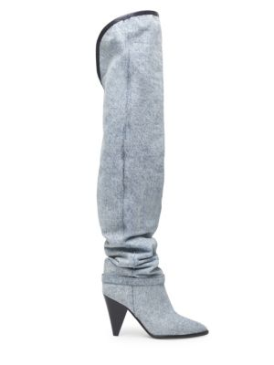Learon Denim Tall Boots