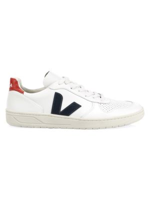 V-10 Nautico Low-Top Leather Sneakers