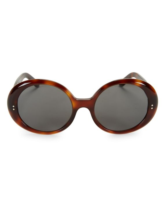 CELINE CL40065I Blonde Havana Frame 57MM Round Sunglasses