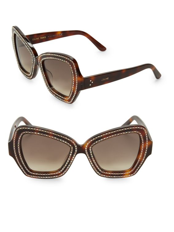 CELINE 54MM Butterfly Sunglasses