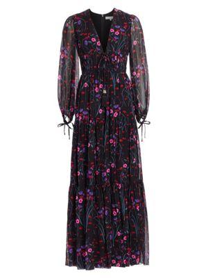 Freya Floral Silk Gown