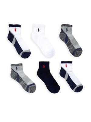 Marled Cruise Six-Pack Crew Socks