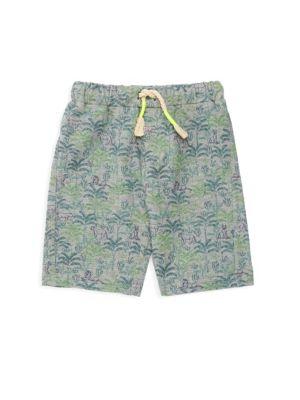 Baby's & Little Boy's French Terry Cody Safari Print Shorts
