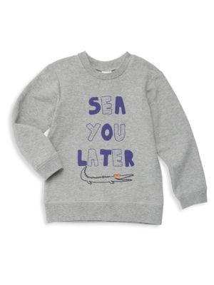 Baby's & Little Boy's Sea You Later Graphic Sweatshirt