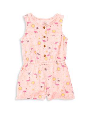 Baby Girl's & Little Girl's Kamila Printed Stretch Cotton Romper