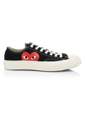 Comme des Garcons Play x Converse Play One Heart Low-Top Sneakers