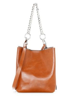 Medium Kate Convertible Leather Bucket Bag