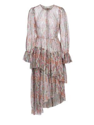 Ninety-Six Paisley Silk Dress