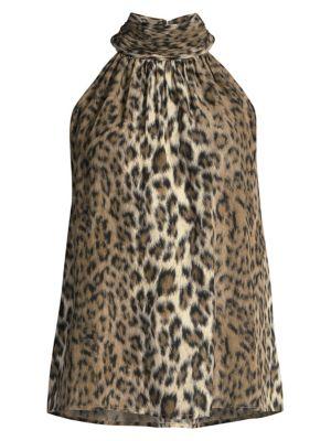 Erola Leopard Halter Top