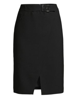 Gracelyn Belted Pencil Skirt