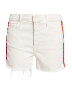 Sinner Fray Hem Denim Shorts