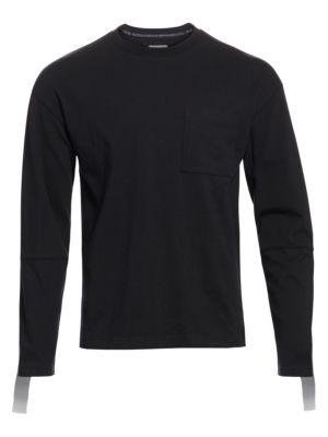 Taped Long Sleeve Panel T-Shirt