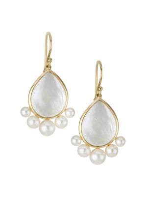 Nova 18K Yellow Gold, Pearl & Mother-Of-Pearl Drop Earrings