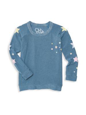 Little Girl's & Girl's Star Print Sweatshirt