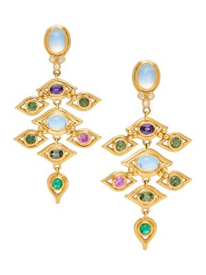 Nature Deconstructed Campo de' Fiori 18K Yellow Gold, Diamond & Mixed-Stone Earrings