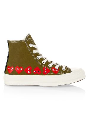 Multi Heart High-Top Canvas Sneakers
