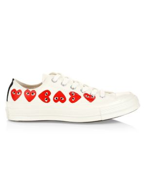 Multi Heart Low-Top Canvas Sneakers
