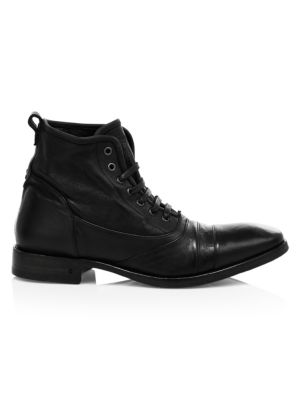 Fleetwood Leather Lace-Up Combat Boots