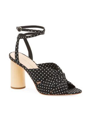 Tatiana Polka Dot Cotton Sandals