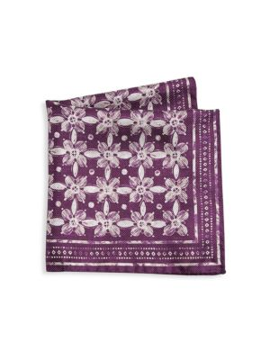 COLLECTION Floral Silk Pocket Square