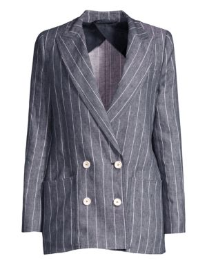 Bellico Pinstripe Linen Blazer
