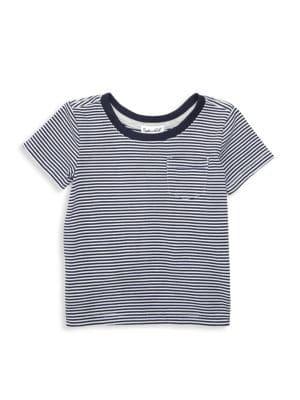 Baby Boy's Striped Pocket Crewneck