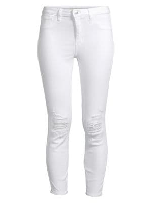 Margot High-Rise Ankle Skinny Distressed Jeans