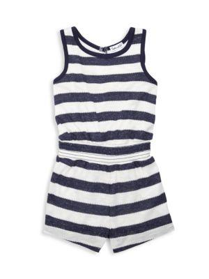 Little Girl's Textured Stripe Romper
