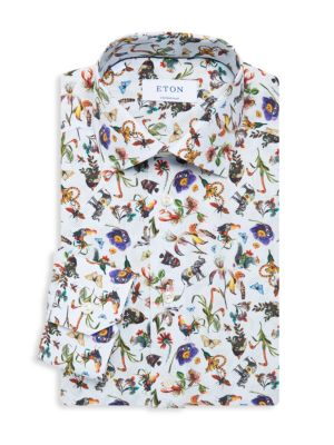Contemporary-Fit Transition Animal Dress Shirt