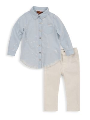 Little Boy's Two-Piece Denim Set