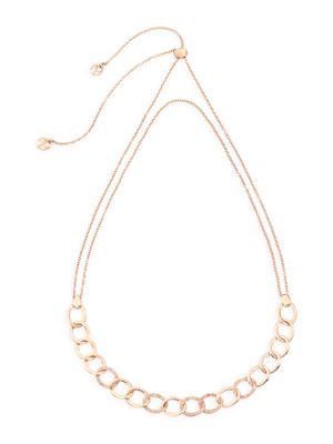 Brera Diamond & 18K Rose Gold Chain Choker Necklace