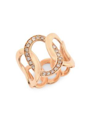 Brera 18K Rose Gold & Brown Diamond Ring