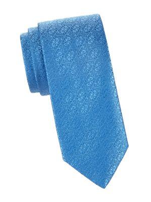 Scroll Jacquard Silk Tie
