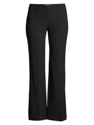 Wool Cropped Flare Trousers