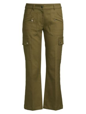 Flared Cropped Cargo Pants