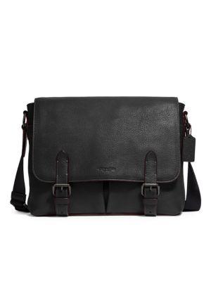 Metropolitan Refined Leather Crossbody Briefcase