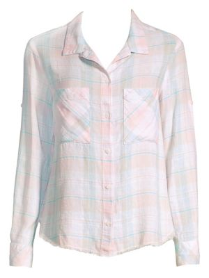 Raw-Hem Check Shirt