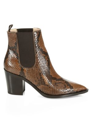 Romney Point-Toe Python Chelsea Boots