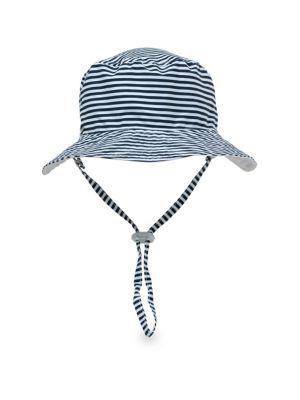 Baby's Reversible Stripe Bucket Hat