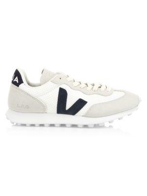 VEJA | Riobranco Hexamesh Arctic Leather & Suede Sneakers | Goxip