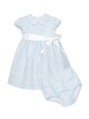 Girl's Two-Piece Embroidered A-Line Dress & Bloomer Set