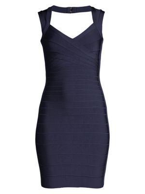 Basics Cocktail V-Neck Bandage Dress