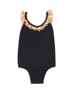 Little Girl's & Girl's Fay One-Piece Fringed Bathing Suit