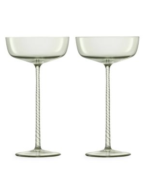 Champagne Theatre Two-Piece Glass Champagne Saucer Set
