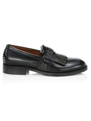 Cruz Embellished Leather Penny Loafers