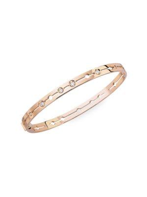 Pulse 18K Rose Gold & Diamond Small Bangle Bracelet