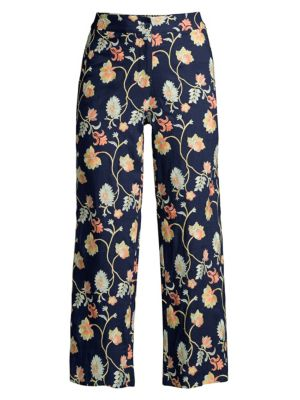 Malaga Embroidered Floral Pants