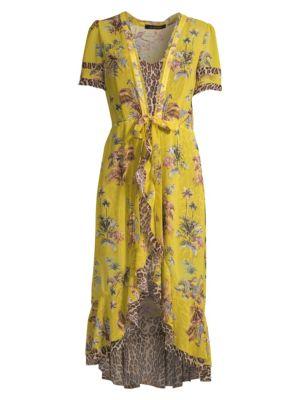 LE SUPERBE | Safari Chiffon Wrap Dress | Goxip